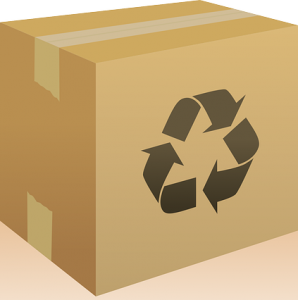 Box with Recycle Symbol